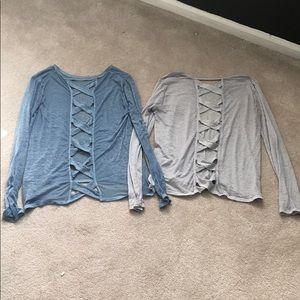 Betsey Johnson Cross-back Shirt Bundle